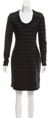 Yigal Azrouel Embellished Long Sleeve Dress