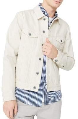 MANGO Front Button Denim Jacket