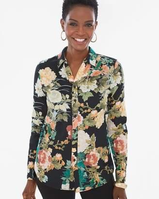 No Iron Sateen Floral Caroline Shirt