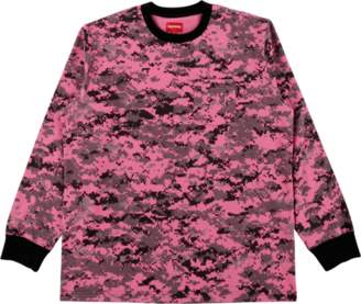Supreme Longsleeve Pocket Tee - 'FW 17' - Pink Digi Camo