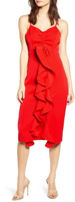 Endless Rose Ruffle Front Dress