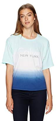 Calvin Klein Jeans Women's Short Sleeve Dip Dye Logo Boy T-Shirt