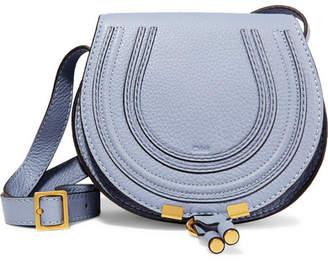 Chloé Marcie Mini Textured-leather Shoulder Bag - Light blue