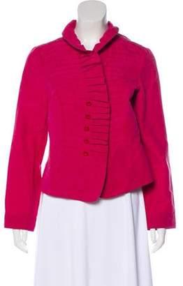 Armani Collezioni Ruffled Open Front Jacket