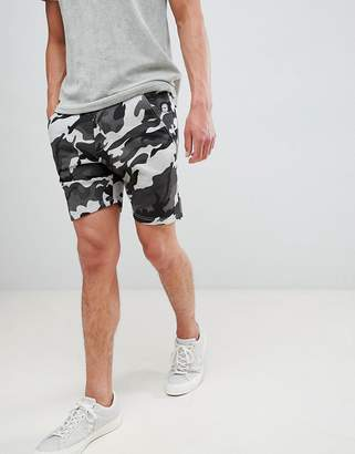 Le Breve Camo Print Shorts