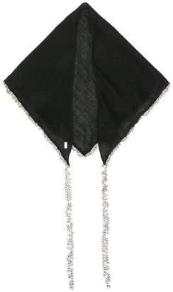 Saint Laurent metal bead pendant shawl