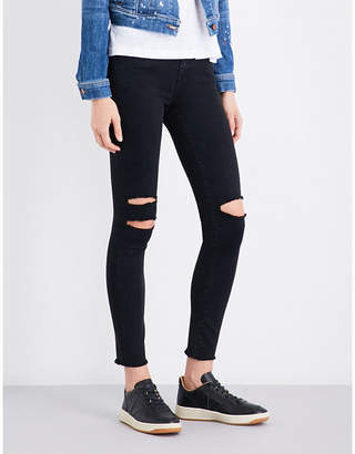 J Brand 8227 skinny cropped mid-rise jeans