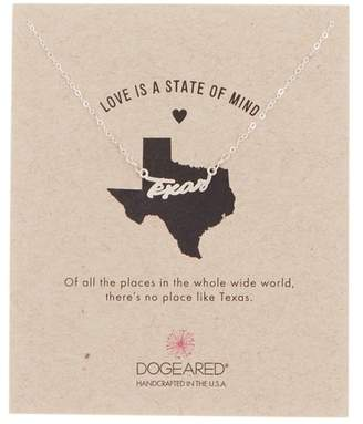 Dogeared Sterling Silver Love is a State of Mind Texas Necklace