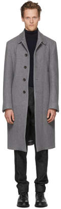 Thom Browne Grey Wool and Cashmere Bal Collar Coat