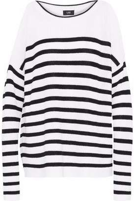 Line Adelaine Cold-Shoulder Striped Knitted Sweater