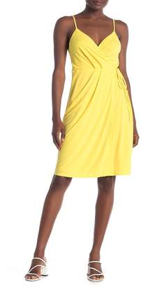 BCBGeneration Solid Sleeveless Wrap Dress