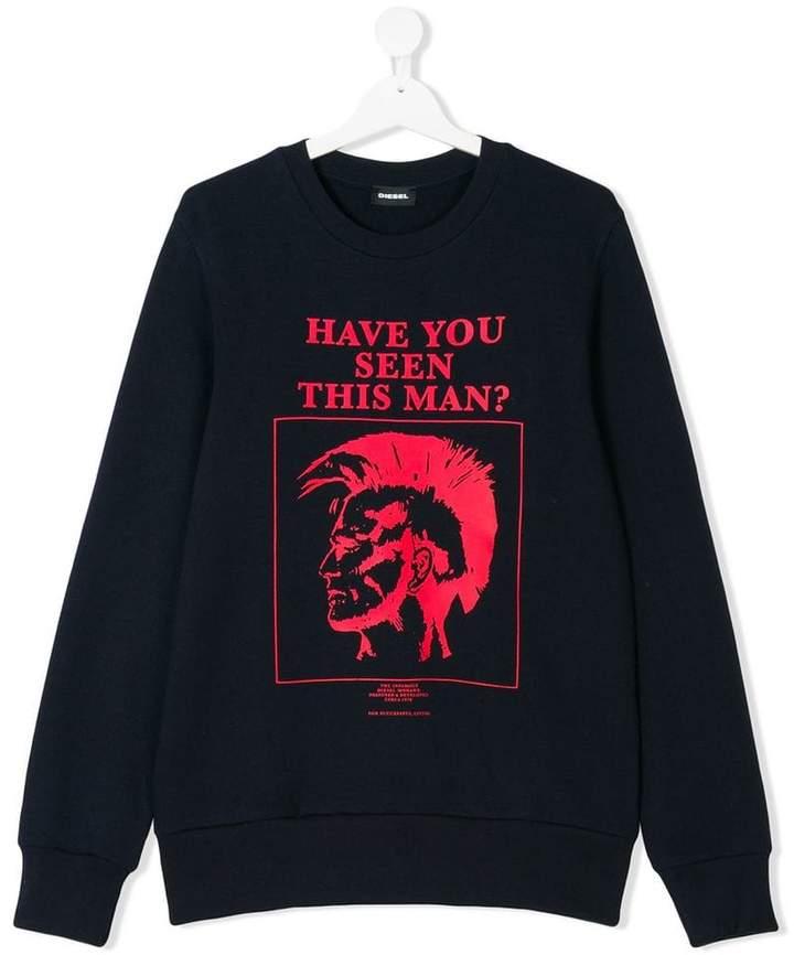 Sweatshirt mit Mohawk-Print