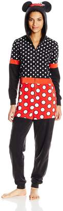 Disney Dress Like Minnie Mouse Fleece Onesie Pajamas With Hood for women