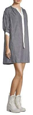 Marc Jacobs Striped Cotton Shirtdress
