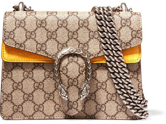 Gucci - Dionysus Mini Coated-canvas And Suede Shoulder Bag - Beige $1,550 thestylecure.com