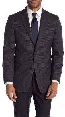 Brooks Brothers Charcoal Check Plaid Two Button Notch Lapel Wool Classic Fit Sports Coat