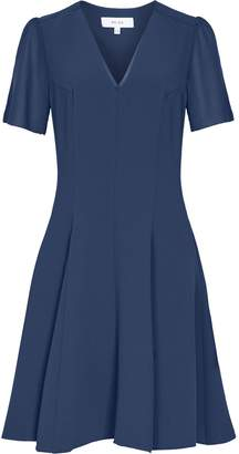 Reiss Natalia - V-neck Fit And Flare Dress in Teal