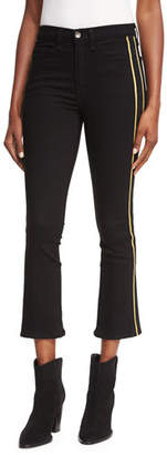 Veronica Beard Carolyn Baby-Boot Tux Stripes Cropped Jeans