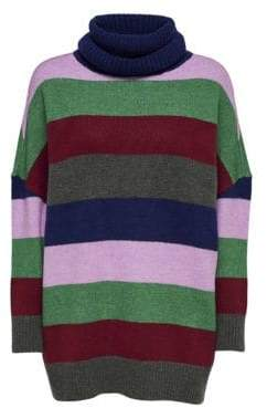 Only Colourblock High Neck Pullover Sweater