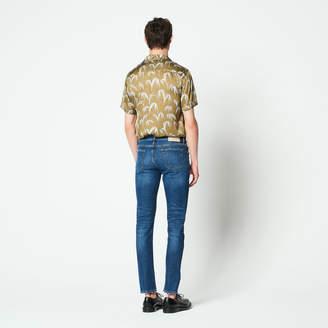Sandro Blue straight-cut jeans