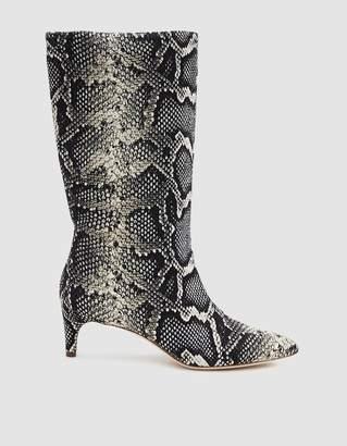 Loeffler Randall Naomi Kitten Heel Tall Boot in Graphite Snake