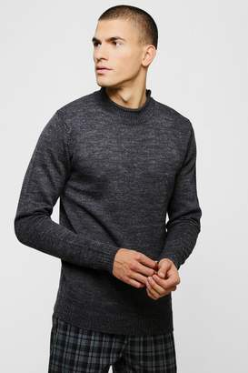 boohoo Grown On Neck Knitted Jumper