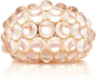 "Nam Cho 18K Rose Gold"" Moonstone Cabochon and Diamond Ring"