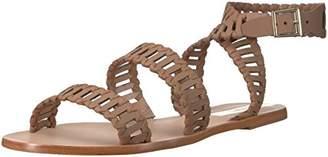 Kaanas Women's JIJOCA Ladder Strap Leather Gladiator Flat Sandal