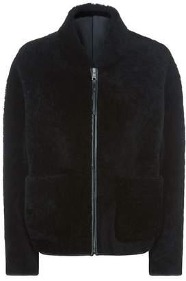 Pringle Cropped Sheepskin Jacket