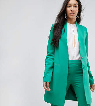 Y.A.S Tall Collarless Blazer With Shoulder Pads