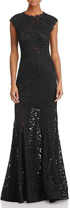 Aqua Embellished Lace Gown - 100% Exclusive
