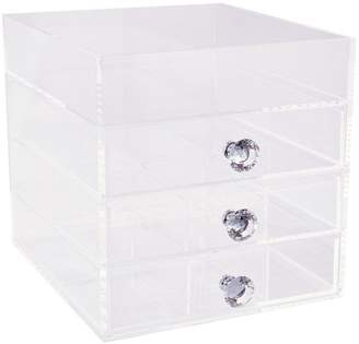 Co Impressions Vanity Diamond Collection 4-Drawer Acrylic Organizer