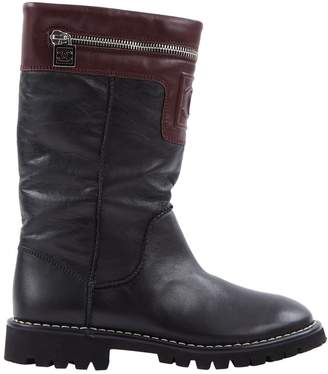 Chanel Leather biker boots