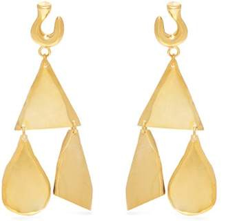 Sophia Kokosalaki Hook & Runes Gold Plated Earrings - Womens - Gold