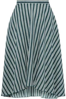 Sonia Rykiel Asymmetric Striped Crepe Skirt
