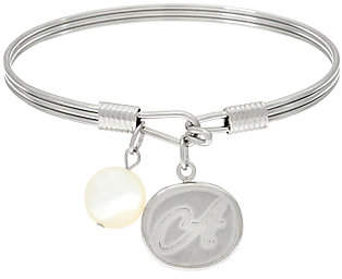 QVC Stainless Steel Initial Charm Bangle, Gift Box