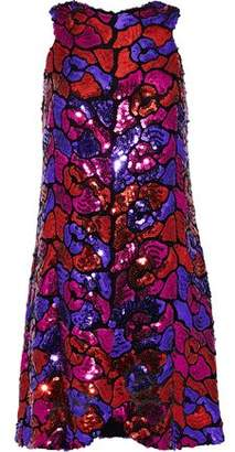 Anna Sui Sequined Tulle Mini Dress
