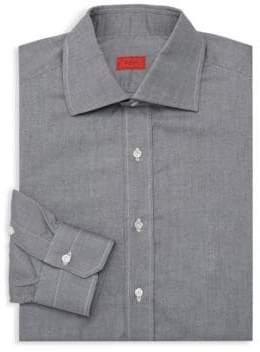 Isaia Solid Dress Shirt