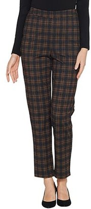 Joan Rivers Classics Collection Joan Rivers Petite Length Plaid Pull-On Ankle Pants