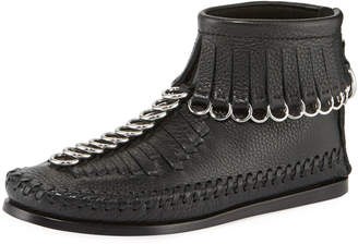 Alexander Wang Montana Soft Pebbled Leather Moccasin Booties