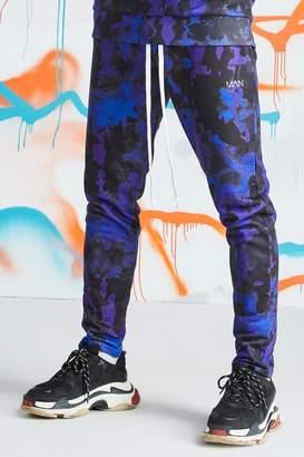 30dfe09d696a boohoo Quavo Tie Dye Skinny Jogger With Print