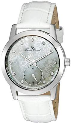 Lucien Piccard Women's 'Noureddine' Quartz Stainless Steel and Leather Casual Watch (Model: LP-40037-02MOP-WHS)
