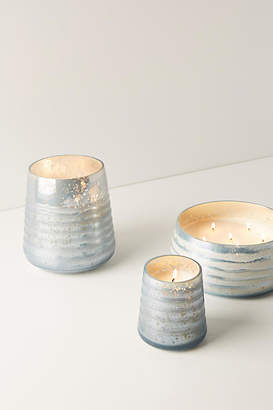 Anthropologie Frosted Glass Candle
