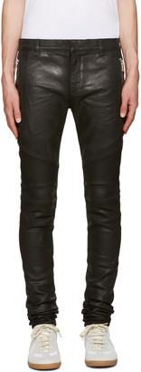 Balmain Black Coated Super Skinny Jeans $1,300 thestylecure.com