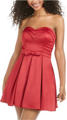 Trixxi Juniors' Strapless Bow-Detail Dress
