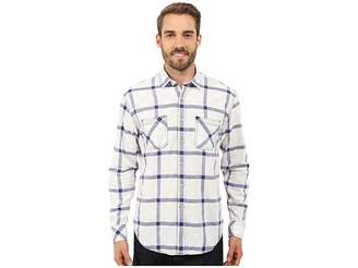 James Campbell Miles Long Sleeve Woven Men's Long Sleeve Button Up