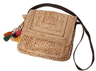 Ale By Alessandra 'ale by alessandra Women's Tangier Sturdy Hemp Braid Bag With Leather Cross Body Strap