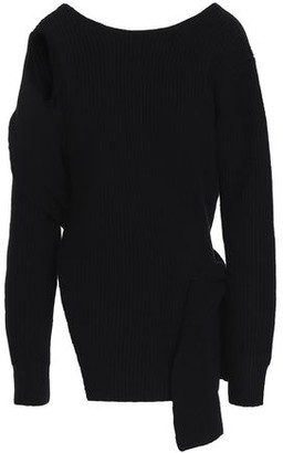 3.1 Phillip Lim Cutout Knotted Ribbed-knit Wool Sweater