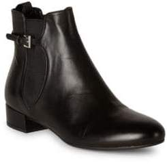 Prada Belted Leather Chelsea Booties