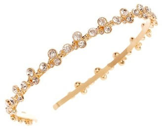 Natasha Accessories Round Bezel Crystal Headband $24.97 thestylecure.com